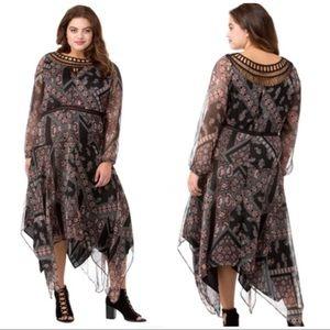 Jessica Simpson black Plus Size Ida Dress 3X